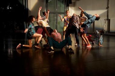 Open Spaces/Sommer Tanz 2018 , Dance : Lyllie  Rouvière , Anna Fitoussi , Alistair  Watts , Johanna Ackva , Ivan Björn Ekemark , Sigrid Savi , Adrian Carlo Bibiano , Johanna Ackva , Sunayana  Shetty & Forough Fami (v.l.n.r.)