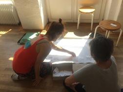 Zwei Teilnehmerinnen beim Mapping - Tag 1